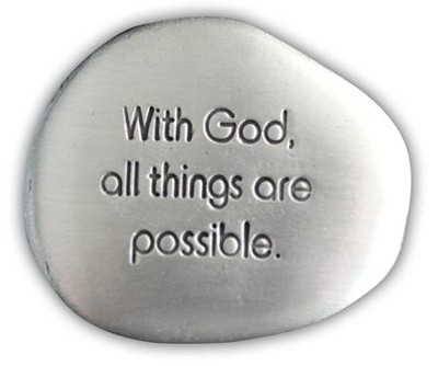 With God All Things are Possible Pocket Stone  -