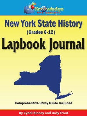 New York State History Lapbook Journal (Printed)  -     By: Cyndi Kinney