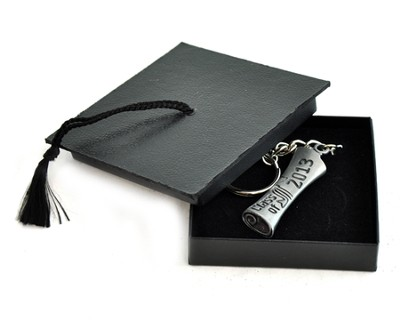 Class of 2013 Key Ring With Decorative Mortarboard Box   -