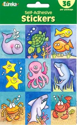 Scripture Press 2s & 3s Marine Life Stickers, Summer 2015  -