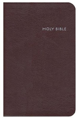 CEB Common English Bible, Thinline Edition - Burgundy EcoLeather (bonded leather)  -