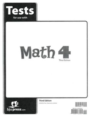 BJU Math Grade 4 Tests Pack (Third Edition)    -