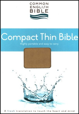CEB Common English Bible, Compact Thin Edition - Espresso Henley DecoTone  -