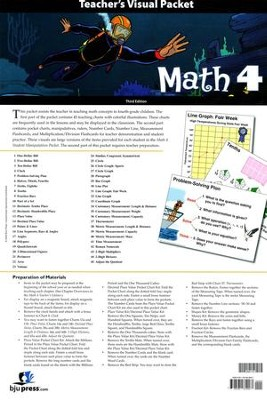 BJU Math Grade 4 Visual Packet Teacher's Edition (Third Edition)    -