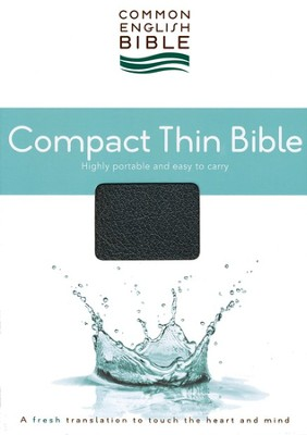 CEB Common English Bible, Compact Thin Edition - Black EcoLeather (bonded leather)  -