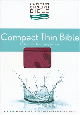CEB Common English Bible, Compact Thin Edition - Pomegranate Flourish DecoTone  -