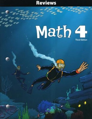 BJU Math Grade 4 Reviews Activity Book (Third Edition)   -