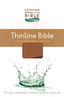 CEB Common English Bible, Thinline Edition - Tan/Brick Red DecoTone  -