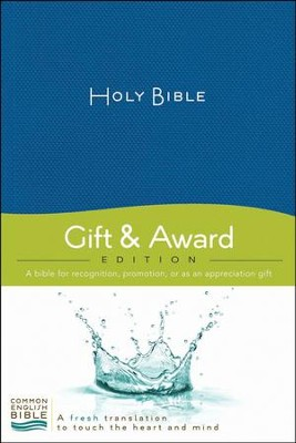 CEB Deluxe Gift and Award Bible Softcover Blue, Red Letter   -
