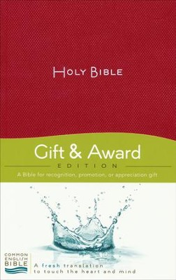 CEB Gift and Award Bible Softcover Red, Red Letter  -