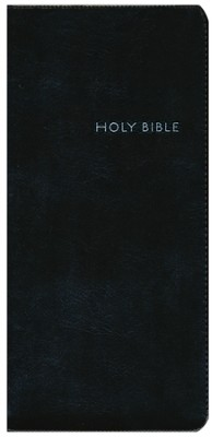 CEB Pocket Thin Bible w/zipper, Soft leather-look, Black  -