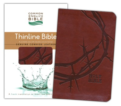 CEB Thinline Bible, Soft leather-like, Sienna Crown   -