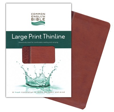 CEB Thinline Bible, Large Print edition, Soft leather-like, Cinnamon Bloom  -