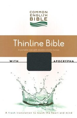 CEB Common English Bible with Apocrypha, Thinline Edition - Black DecoTone  -