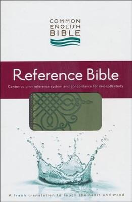 CEB Reference Bible, Soft leather-look Sage Scroll  -