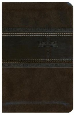 CEB Common English Bible Compact Thin Green DecoTone with Cross  -