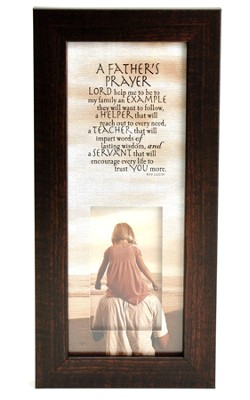 A Father's Prayer Wall Art  -