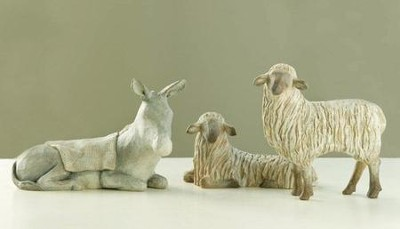 Willow Tree &#174 The Christmas Story Nativity, Gentle Animals    -     By: Susan Lordi