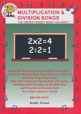 Multilplication and Division Songs DVD   -     By: Kathy Troxel