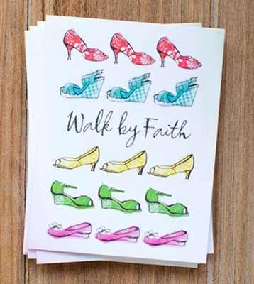 Walk by Faith Notes, Pack of 10  -