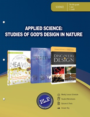 Applied Science: Studies of God's Design in Nature Parent Lesson Planner - PDF Download  [Download] -