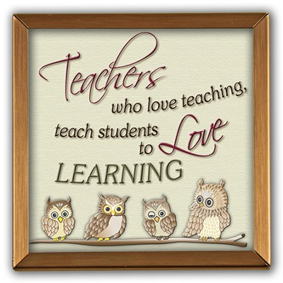 Teachers Who Love Teacing Copper Plaque  -