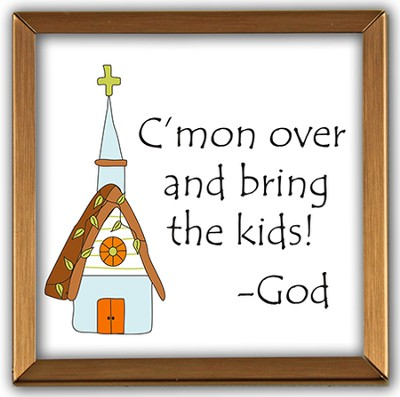 C'mon Over and Bring the Kids Copper Plaque  -