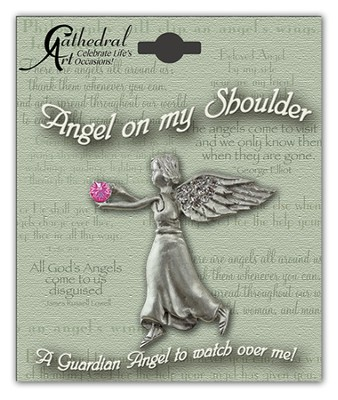 October Birthstone Angel Lapel Pin  -