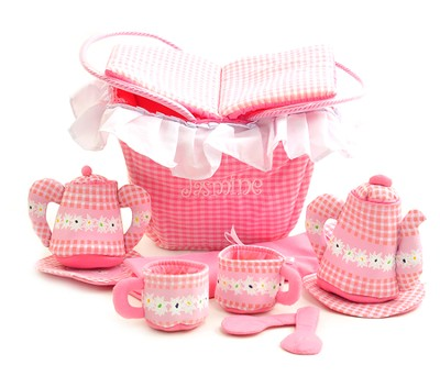 Personalized, Soft Toy, Tea Party Set   -
