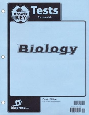 BJU Press Biology Grade 10 Test Pack Answer Key, Fourth Edition  -