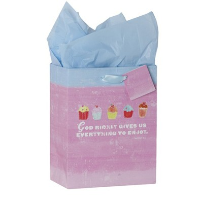 God Richly Gives Gift Bag, Medium  -