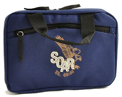 Bible Cover, Soar, Eagle, Blue, Medium    -