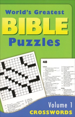 World's Greatest Bible Puzzles-Volume 1 (Crosswords)   -