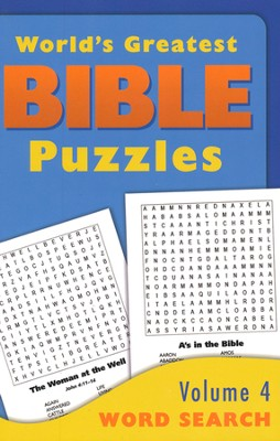 World's Greatest Bible Puzzles-Volume 4 (Word Search)  -