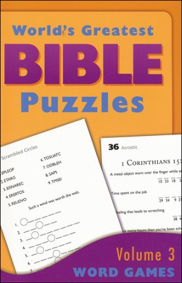 World's Greatest Bible Puzzles-Volume 3 (Word Games)  -