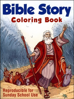 Bible Story Coloring Book: Reproducible for Sunday School Use  -