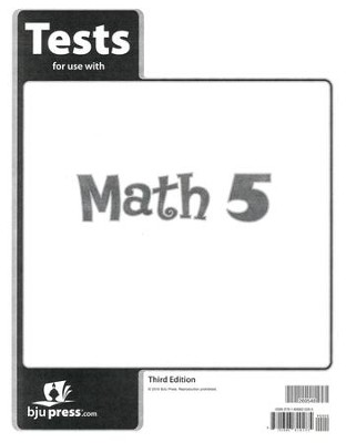 BJU Math Grade 5 Test Pack, Third Edition    -