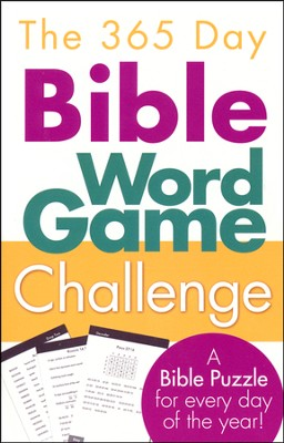 The 365-Day Bible Word Game Challenge: A Bible Puzzle for Every Day of the Year!  -