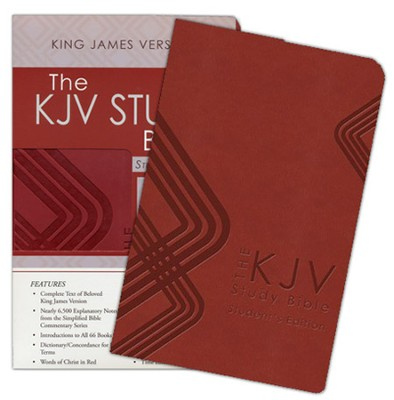 KJV Study Bible: Students' Edition - leather-look, burgundy   -