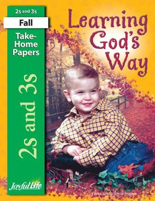 Learning God's Way (ages 2 & 3) Take-Home Papers   -