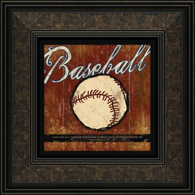 Baseball, I Can Do All Things Framed Print  -