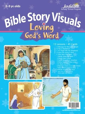 Loving God's Word (ages 2 & 3) Bible Visuals   -