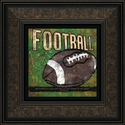 Football, Be Strong In the Lord Framed Print  -