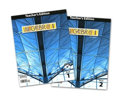 BJU Algebra 1 Teacher's Edition Grade 9 with CD-ROM (3rd Edition)    -