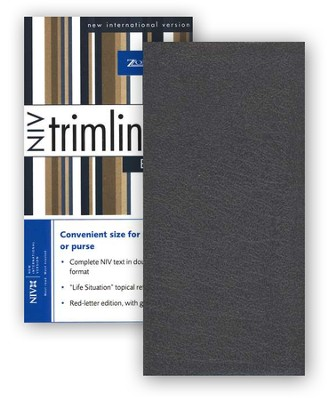 NIV Trimline Bible, Bonded leather, Black  - Slightly Imperfect  -