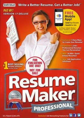 ResumeMaker Professional Deluxe CD-Rom, Version 17   -