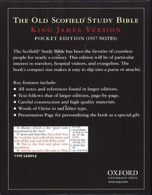 KJV Old Scofield Pocket Bible Bonded Black & Burgundy   -