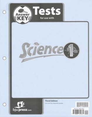 BJU Science Grade 1 Testpack Answer Key, Third Edition    -