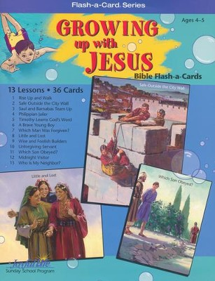 Extra Growing Up with Jesus Beginner (Ages 4 & 5) Bible Story Lesson Guide  -