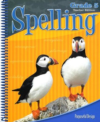 ACSI Spelling Grade 5 Teacher's Edition, Revised   -